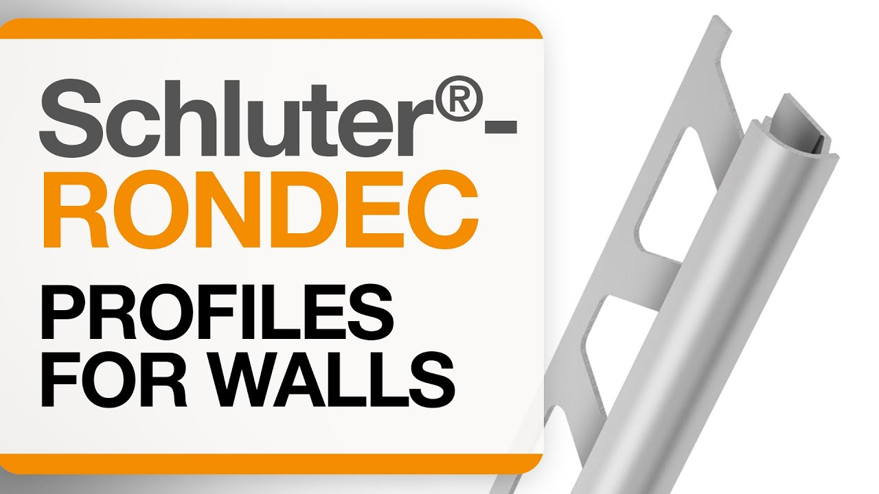 How To Install Tile Edge Trim On Walls Schluter 174 Rondec