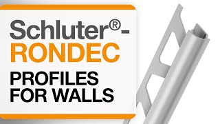 How to install tile edge trim on walls: Schluter®-RONDEC profile