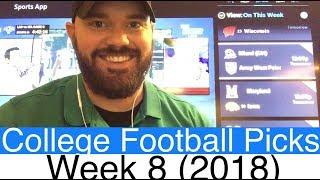 Week 8 Football Picks (2018) | NCAAF College Betting Predictions | CFB Vegas Lines & Odds (NCAA)