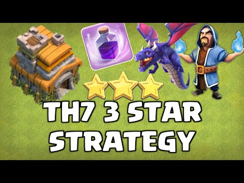 BEST TH7 ATTACK STRATEGY 2020! 3 STAR EVERYONE!