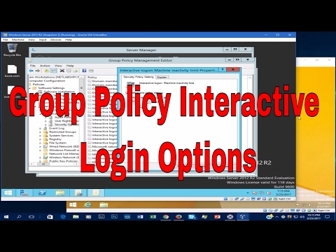 Group Policy Interactive Login Options