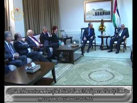 President Abbas receives members of the British Parliament's Intelligence and Security Committee