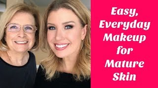 Everyday Makeup For Truly Mature Skin 70+ | Makeup On My Mom ❤️️