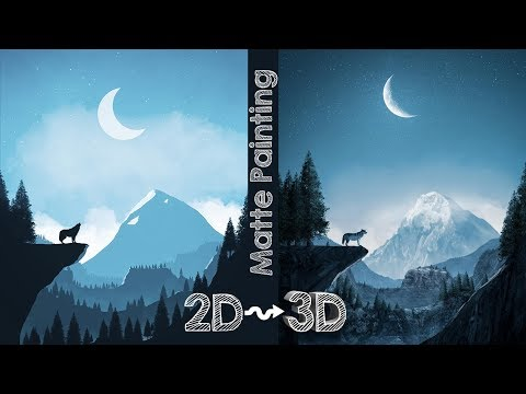 Matte Painting -Turn your sketches into REALISTIC 3D images EASILY in Photoshop