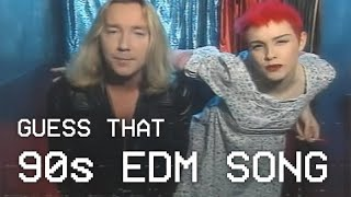 Guess That EDM Song Challenge | 90s Edition - classic 90s edm songs