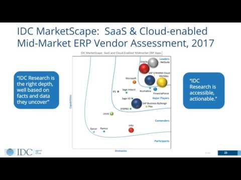 Webinar With IDC: How To Select The Right ERP Vendor