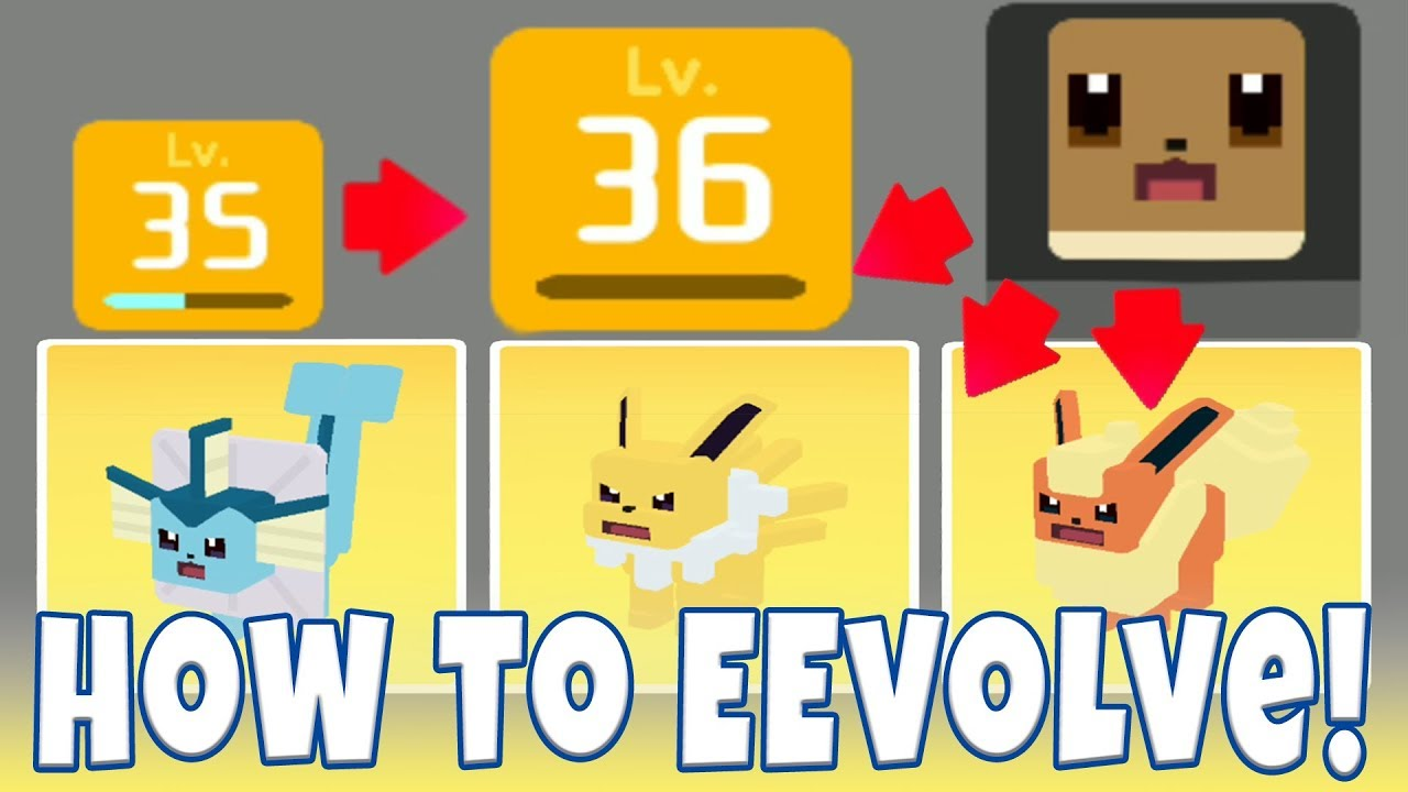 How to evolve eevee in pokemon quest all eevolutions vaporeon jolteon  flareon evolution guide also rh youtube