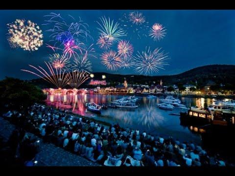 Castle and Fireworks at Heidelberg Castle - Heidelberg, Germany July 2015