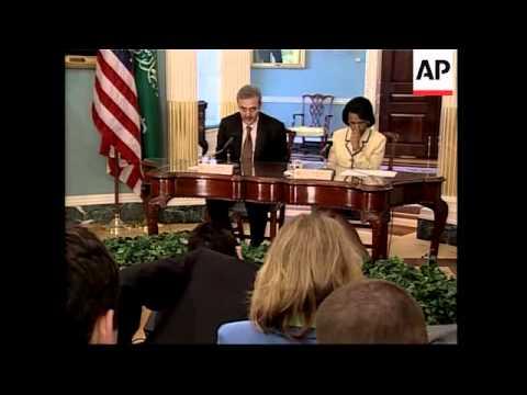 FM Saud al-Faisal and Rice on Iran, Middle East