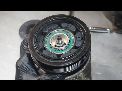 Как снять муфту компрессора кондиционера.