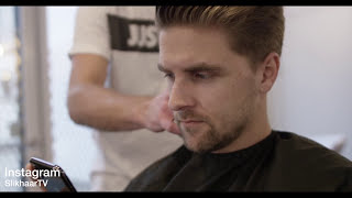 Fall winter fashion and hairstyling - Monclar  Vs. Nobis Parka - Street style clothing