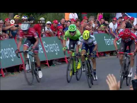 Finish of the favorites - Stage 5 - La Vuelta 2017