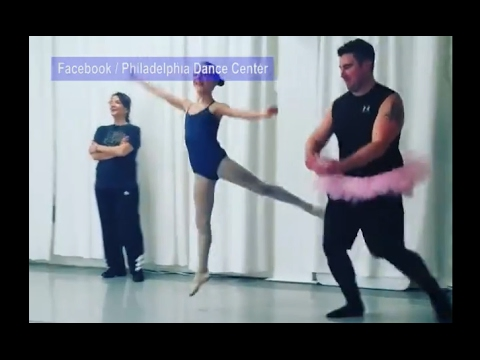Daddy-Daughter Valentine's Ballet Class Held By Dance Center | ABC News