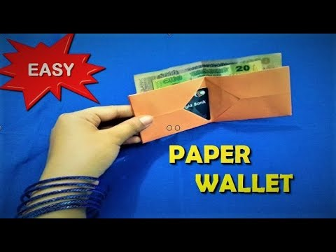 💵 How to make a paper wallet 💵   Easy Origami Wallet secret pockets tutorial step by step 💵