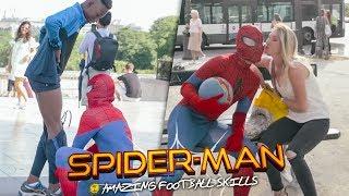 Spiderman homecoming (amazing football freestyle skills) by séan garnier