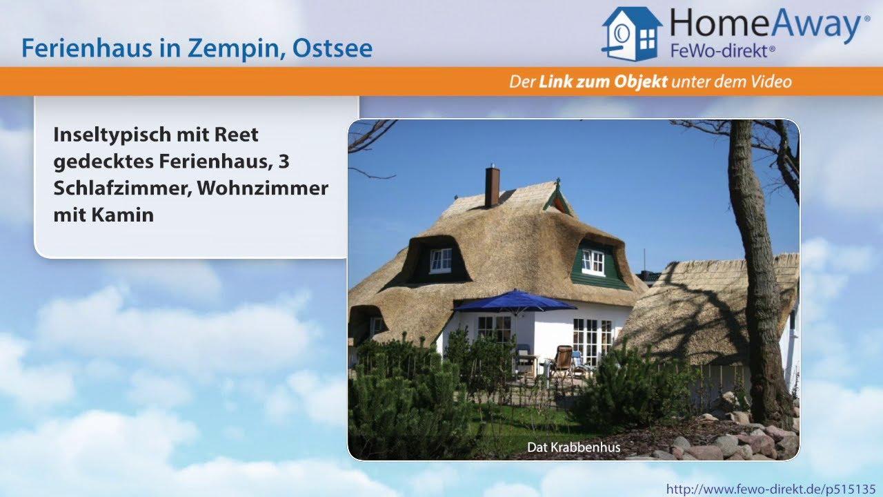 Usedom: Inseltypisch mit Reet gedecktes Ferienhaus, 3 Schlafzimmer ...