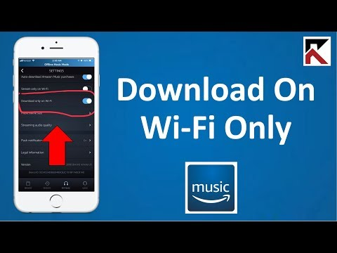 How To Download Music On Wi-Fi Only Amazon Music