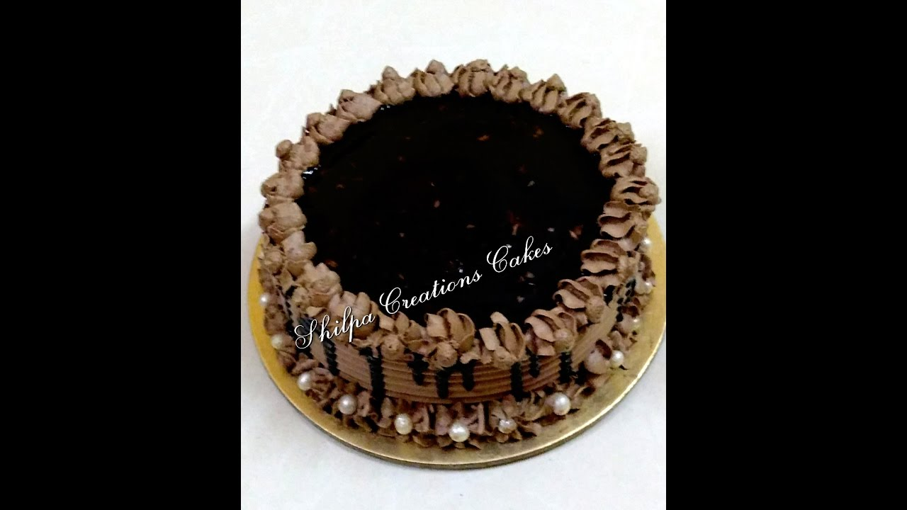 How To Decorate Eggless Chocolate Truffle Cake Youtube
