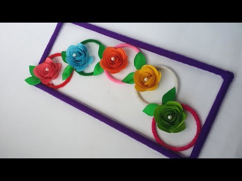 DIY: Old Bangles Reuse Idea!! How to Make  Wall Hanging with Wool & Bangles for Home Decoration!!!