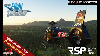 Jurassic Park Tour | Helicopter Operations | Dinosaur | Helipad | Waterfall | MSFS2020 | H135