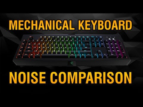 Mechanical Keyboard Sound Comparison! Cherry MX, Romer G, Razer, All compared!