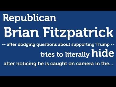 Brian Fitzpatrick hides in Trump Mobile
