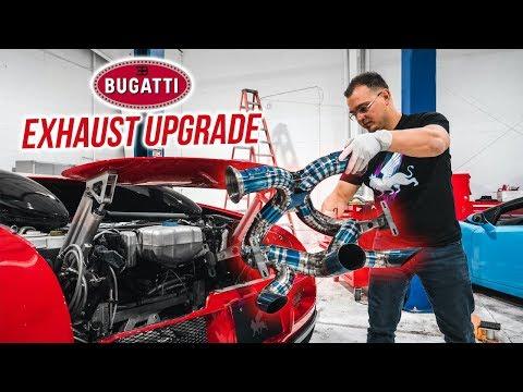 Worlds FIRST BUGATTI Titanium Exhaust Install *LOUDEST VEYRON in the WORLD*