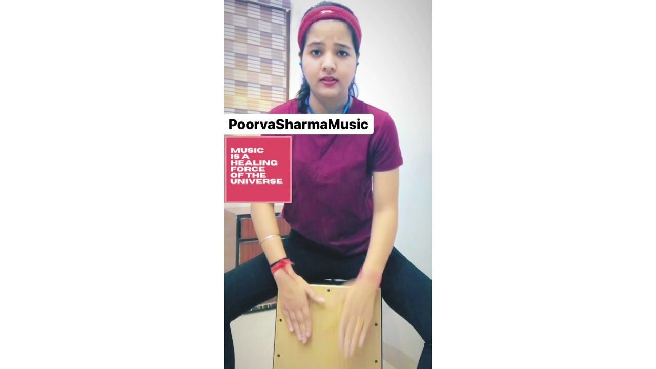 Cajon Cover | Jag Suna Suna Lage | Poorva Sharma