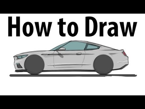 how to draw a 2015 ford mustang sketch it quick youtube. Black Bedroom Furniture Sets. Home Design Ideas