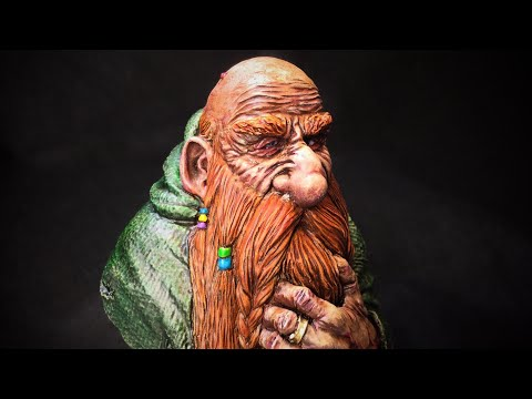 Dwarf Alchemist Resin Bust