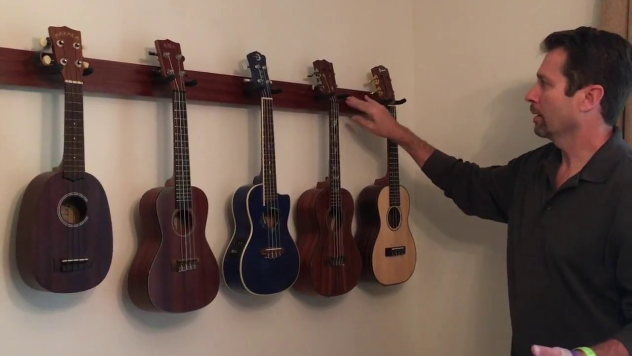 Build A Classy Multiple Uke Wall Hanger For 15 20 Or