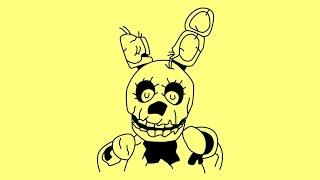 How to draw Springtrap Five nights at Freddy s characters Как нарисовать Спрингтрап