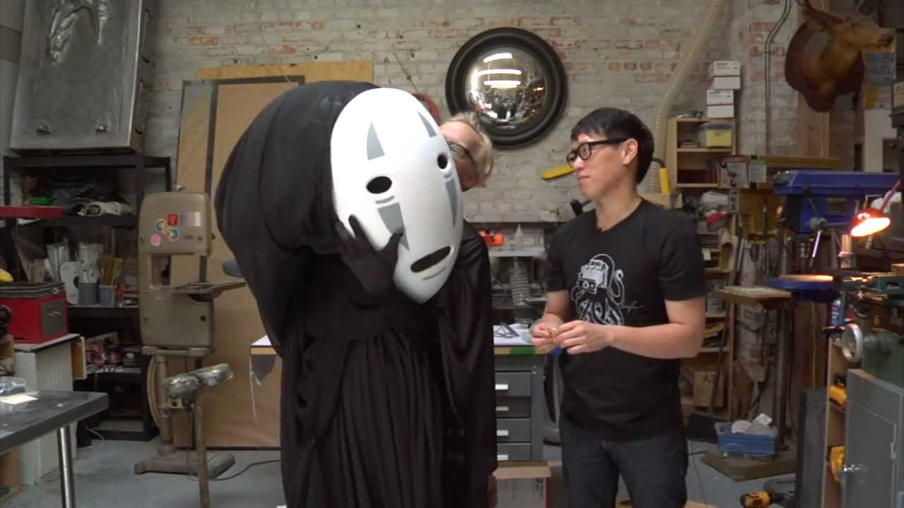 Inside Adam Savages Cave Spirited Away No Face Cosplay