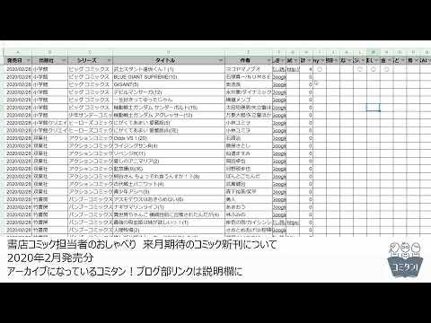 来月期待のコミック新刊チェック! 2020年2月発売分