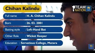 Chihan Kalindu makes his Under 19 Debut