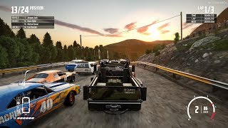 Wreckfest - Wardigger at Vale Falls Circuit Gameplay [Holiday Update]