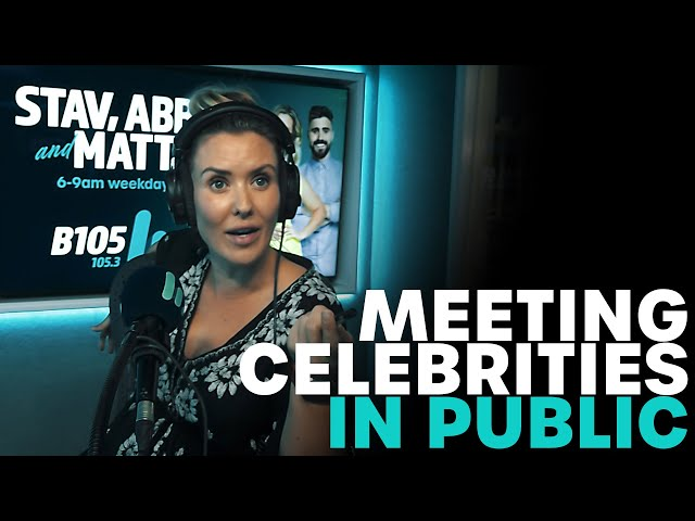 Meeting Celebrities In Public | B105