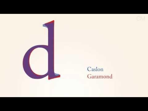 Caslon vs Garamond