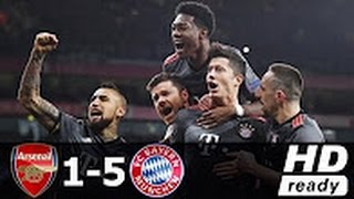 Arsenal vs Bayern Munich 1-5 - All Goals & Extended Highlights - Champions League 07/03/2017 HD