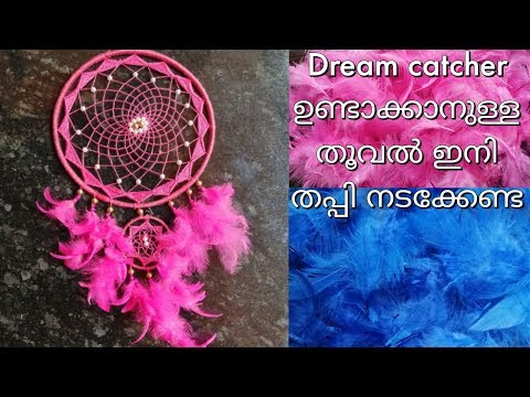Diy feathers for dream catcher | how to colour natural feathers in super easy way || malayalam
