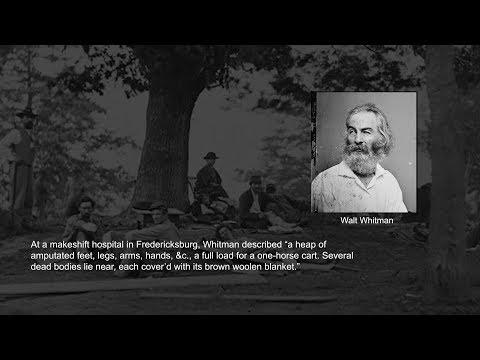 Civil War years: Whitman encounters trauma
