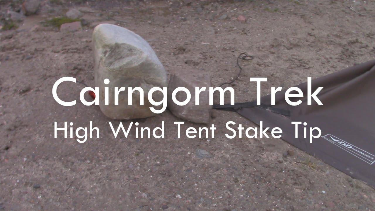 Cairngorm Trek - High Wind Tarp Tent Stake Tip & Cairngorm Trek - High Wind Tarp Tent Stake Tip - YouTube