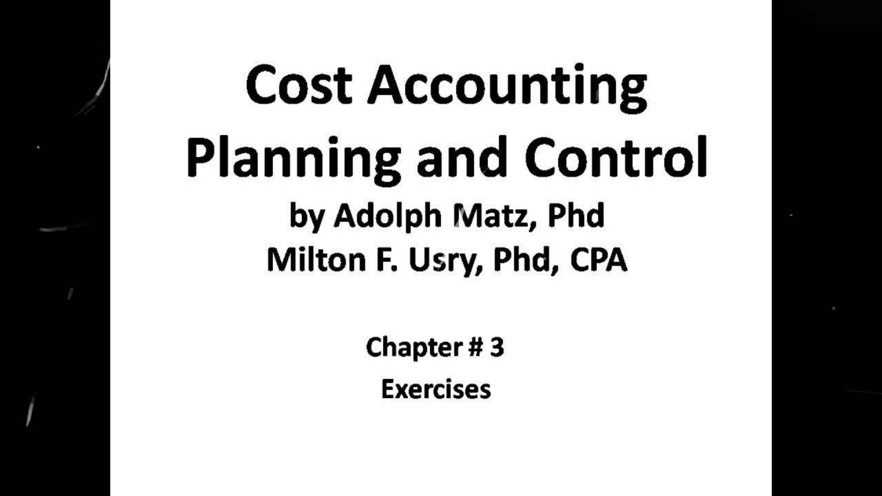 cost accounting planning and control 7th edition solutions