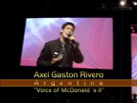 Axel Gastón Rivero  Voice of McDonald´s II