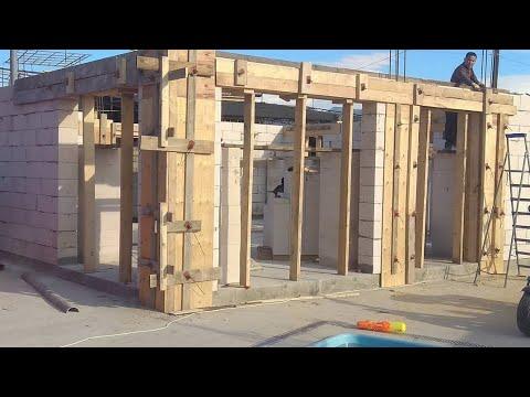 Дом 10х10 из 300 го газобетона на плите