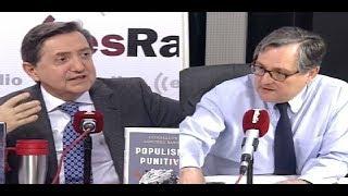 Jiménez Losantos y Francisco Marhuenda se enzarzan en directo por Cayetana Álvarez de Toledo