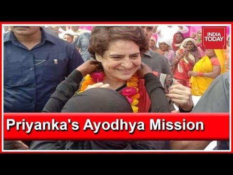 Priyanka Gandhi Embarks On Ayodhya By Holding A Roadshow, BJP Leaders React