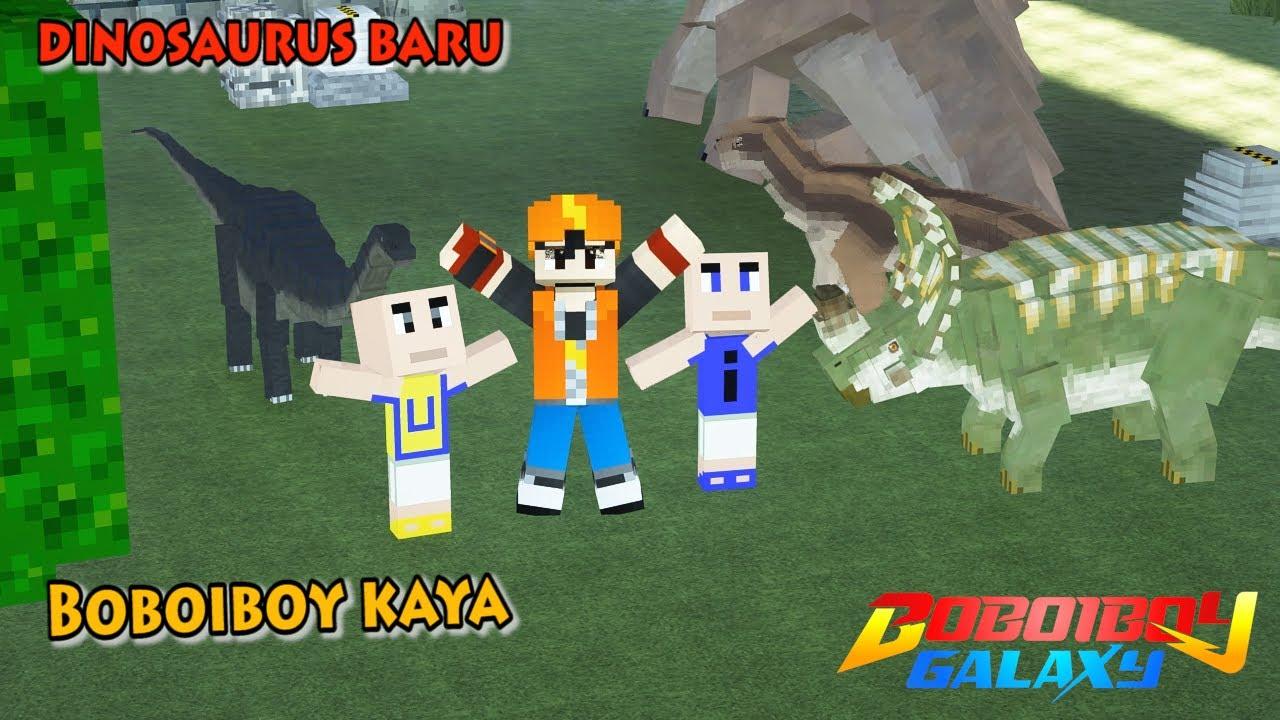 BoBoiBoy Jadi KAYA Punya Dinosaurus Baru - Minecraft BoBoiBoy Mod
