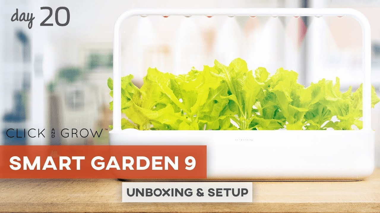 this smart garden grows food for you click grow smart garden 9 unboxing review youtube. Black Bedroom Furniture Sets. Home Design Ideas