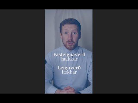 Fasteignaverð hækkar og leiguverð lækkar